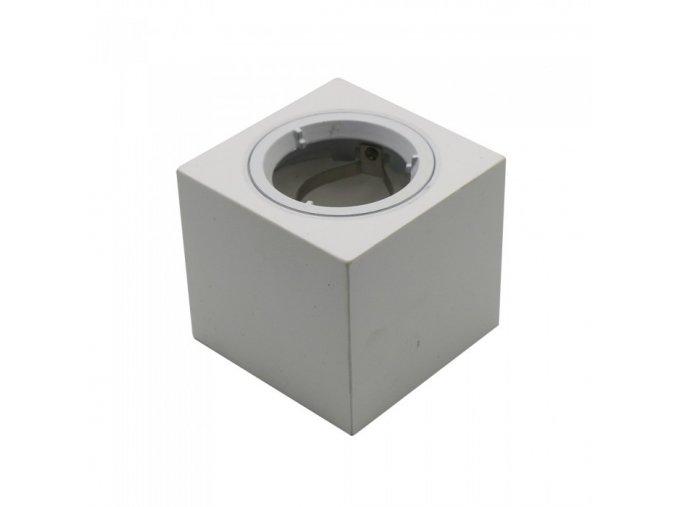 6488 gu10 gehause eckig gips mit aluminium ring