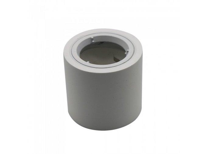 6494 gu10 gehause rund gips mit aluminium ring