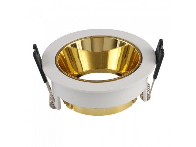 6506 rahmen den scheinwerfer gu10 rund aluminium gold