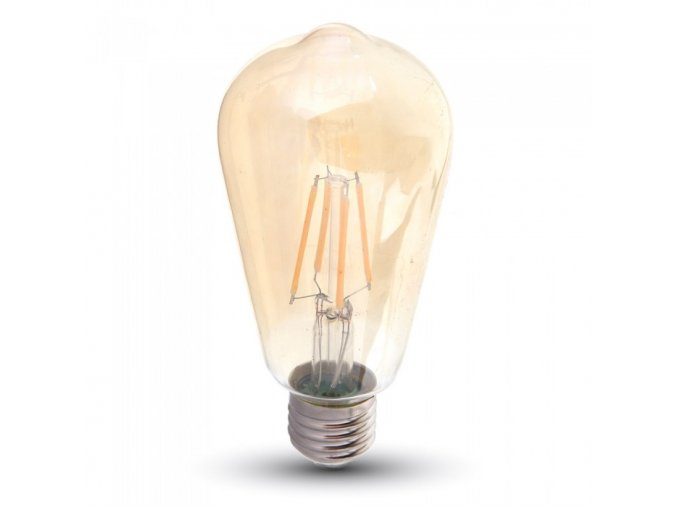 6626 led gluhbirne samsung chip filament 6w e27 st64 bernstein abdeckung 2200k