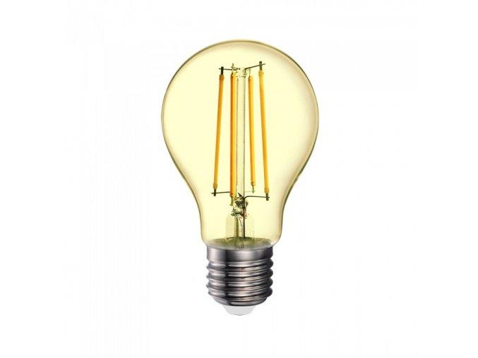 6956 led gluhbirne 12 5w filament e27 a70 bernstein abdeckung 2200k