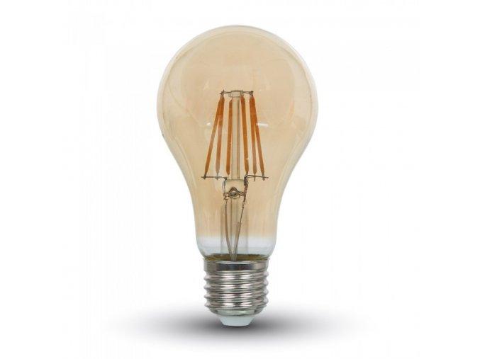7250 led gluhbirne 8w e27 filament bernstein abdeckung