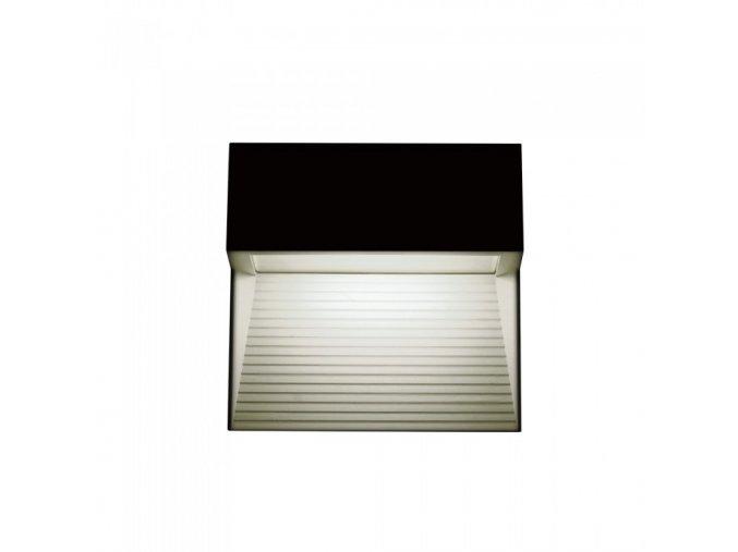 8609 3w led stiegenlampe schwarz gehause quadratisch