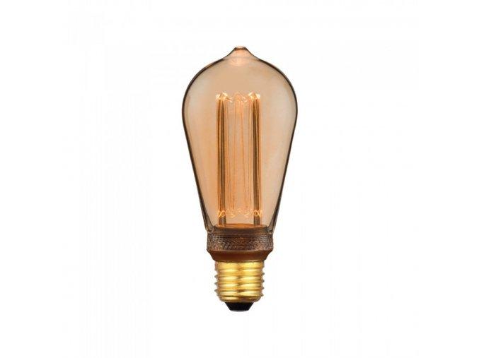 8696 led gluhbirne 4w art filament kerze e27 st64 bernstein glas 1800k 200k