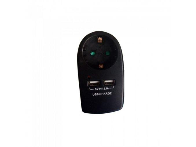 9065 europa typ steckdosenadapter mit erdungskontakt ladeschnittstelle schwarz