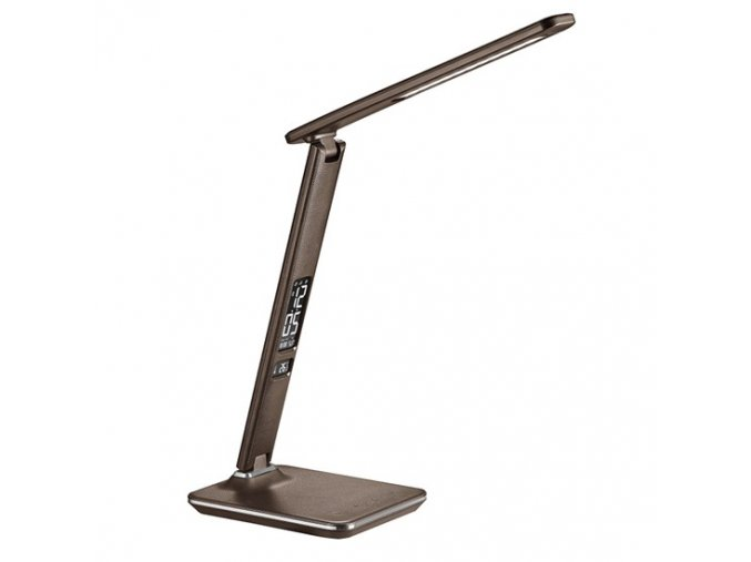9530 led schreibtischlampe mit display 9w leder braun die wahl der farbtemperatur