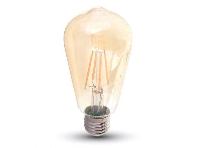98 3 led gluhbirne 8w filament st64 bernstein abdeckung e27
