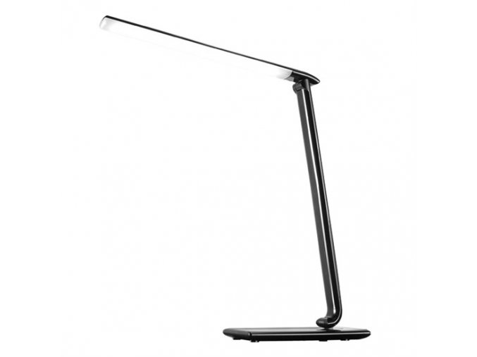 9881 solight led schreibtischlampe dimmbar 12w farbtemperatur usb schwarz glanzend
