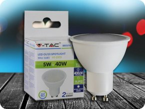 LED Strahler - 5W GU10 SMD  Kunststoff 320Lm  110° (Lichtfarbe Kaltweiß)