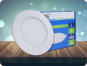 6W LED Premium Panel Einbauleuchte - Rund (Lichtfarbe Kaltweiß)