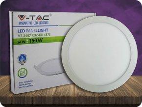 24W LED Premium Panel Einbauleuchte - Rund (Lichtfarbe Kaltweiß)