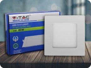 6W LED Premium Panel Einbauleuchte - Quadratisch (Lichtfarbe Kaltweiß)