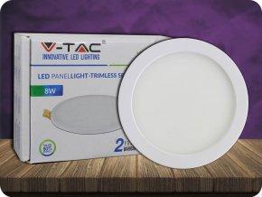 8W LED Trimless Panel Einbauleuchte - Rund (Lichtfarbe Kaltweiß)