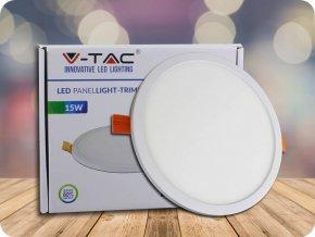 15W LED Trimless Panel Einbauleuchte - Rund (Lichtfarbe Kaltweiß)