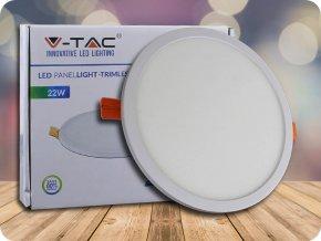22W LED Trimless Panel Einbauleuchte - Rund (Lichtfarbe Kaltweiß)