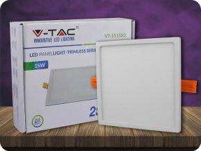 15W LED Trimless Panel Einbauleuchte - Quadratisch (Lichtfarbe Kaltweiß)