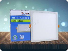 22W LED Trimless Panel Einbauleuchte - Quadratisch (Lichtfarbe Warmweiß)