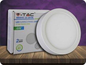 6W LED Oberfläche Panel Einbauleuchte Premium - Rund (Lichtfarbe Kaltweiß)
