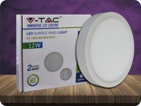 12W LED Oberfläche Panel Einbauleuchte Premium - Rund (Lichtfarbe Kaltweiß)