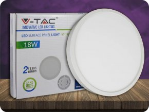 18W LED Oberfläche Panel Einbauleuchte Premium - Rund (Lichtfarbe Kaltweiß)