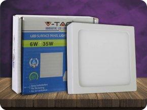 6W LED Oberfläche Panel Einbauleuchte Premium - Quadratisch (Lichtfarbe Kaltweiß)