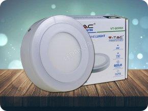 6W+2W LED Oberfläche Panel Einbauleuchte - Rund  EMC+CR80 (Lichtfarbe Kaltweiß)