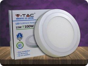 12W+3W LED Oberfläche Panel Einbauleuchte - Rund  EMC+CR80 (Lichtfarbe Kaltweiß)