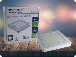 22W LED Oberfläche Panel Einbauleuchte - Quadratisch  EMC+CR80 (Lichtfarbe Kaltweiß)
