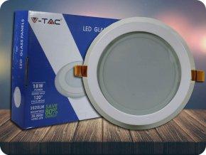 18W LED Panel Einbauleuchte Glas - Rund (Lichtfarbe Neutralweiß)
