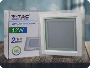12W LED Panel Einbauleuchte Glas - Quadratisch (Lichtfarbe Neutralweiß)