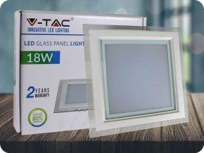 18W LED Panel Einbauleuchte Glas - Quadratisch (Lichtfarbe Neutralweiß)