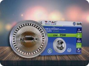 LED Strahler - AR111 15W 12V Strahl 40 Sharp Chip (Lichtfarbe Warmweiß)