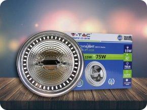 LED Strahler - AR111 15W 230V Strahl 20 Sharp Chip   Dimmbar (Lichtfarbe Kaltweiß)