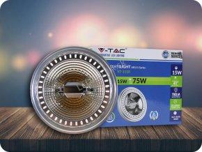 LED Strahler - AR111 15W 12V Strahl 20 Sharp Chip (Lichtfarbe Warmweiß)