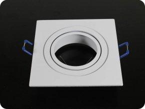 1 x GU10 Gehäuse Quadratisch Aluminium gebürstet (Farba rámiku BrúsenýHliník)