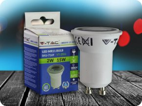LED Strahler - 2W GU10 Mini Kunststoff (Lichtfarbe Kaltweiß)
