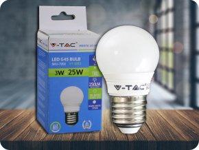 LED Glühbirne - 3W E27 G45 (Lichtfarbe Kaltweiß)