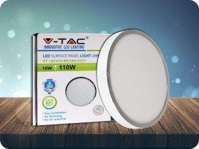 18W LED Oberfläche Panel Chrom Rund (Lichtfarbe Kaltweiß)
