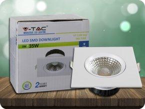 COB LED Einbauleuchte 5W, 350LM, Quadratisch (Lichtfarbe Kaltweiß)