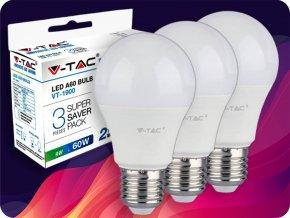 LED Glühbirne - 9W E27 A60 Thermo Kunststoff  3Stück/Packung (Lichtfarbe Kaltweiß)