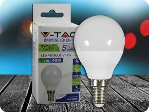 LED Glühbirne - SAMSUNG Chip 5.5W E14 P45 Kunststoff (Lichtfarbe Kaltweiß)