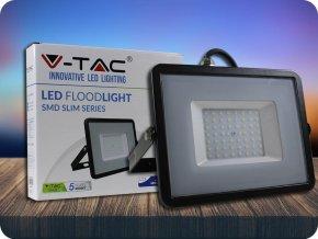 50W LED Scheinwerfer/Flutlicht SMD SAMSUNG CHIP Schwarz Gehäuse (Lichtfarbe Kaltweiß)