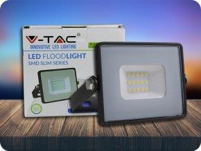 10W LED Fluter/Scheinwerfer SMD SAMSUNG CHIP Schwarz Gehäuse 6400K (Lichtfarbe Kaltweiß)