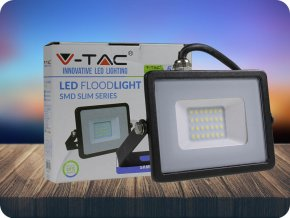 20W LED Fluter/Scheinwerfer SMD SAMSUNG CHIP Schwarz Gehäuse 6400K (Lichtfarbe Kaltweiß)