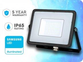 30W LED Scheinwerfer/Flutlicht SMD SAMSUNG CHIP Schwarz Gehäuse (Lichtfarbe Kaltweiß)