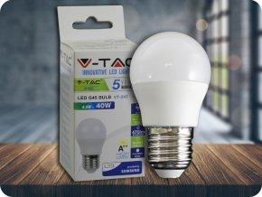 LED Glühbirne - SAMSUNG CHIP 4.5W E27 A++ G45 Kunststoff 6400K (Lichtfarbe Kaltweiß)