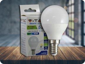 LED Glühbirne - SAMSUNG CHIP 4.5W E14 A++ P45 Kunststoff 6400K (Lichtfarbe Kaltweiß)