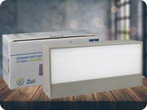 9W LED Up/Down Außenbereich Soft Beleuchtung  Grau Gehäuse IP65 (Lichtfarbe Kaltweiß)