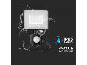 30W LED Sensor Fluter/Scheinwerfer SAMSUNG CHIP Abschaltfunktion Gehäuse Schwarz 6400K (Lichtfarbe Kaltweiß)