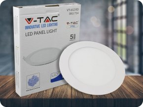 12W LED Panel Premium SAMSUNG CHIP Rund 6400K (Lichtfarbe Kaltweiß)